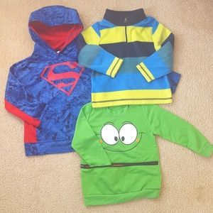 Toddler Boys Set of 3 Sweaters and Hoodie